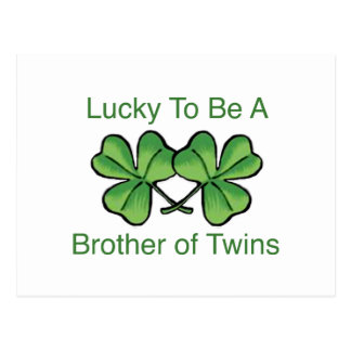 Lucky To Be Twin Brother Postcard
