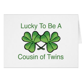 Lucky To Be Twin Cousin Card