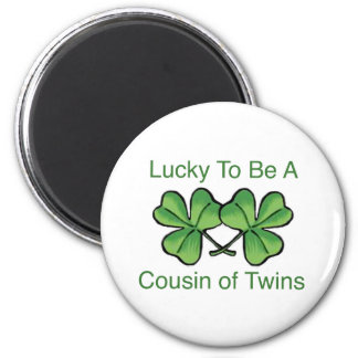 Lucky To Be Twin Cousin Magnet