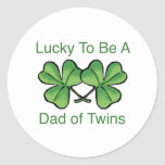 Lucky To Be Twin Dad Sticker