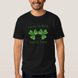 Lucky To Be Twin Dad T Shirt