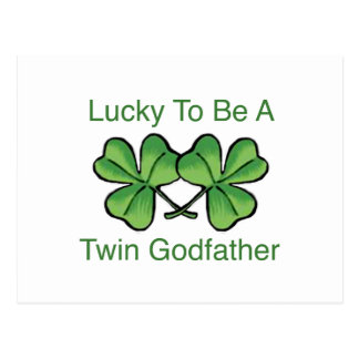 Lucky To Be Twin Godfather Postcard