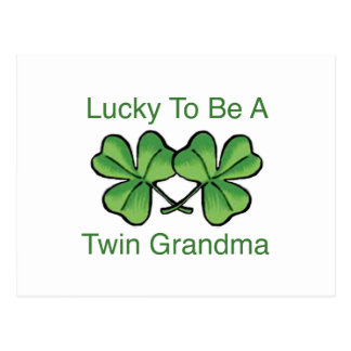 Lucky To Be Twin Grandma Postcard