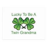 Lucky To Be Twin Grandma Postcards