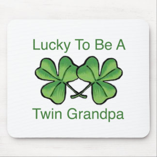 Lucky To Be Twin Grandpa Mouse Pad