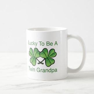 Lucky To Be Twin Grandpa Classic White Coffee Mug