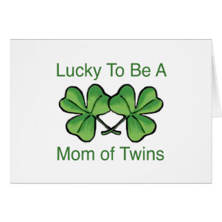 Lucky To Be Twin Mom Cards
