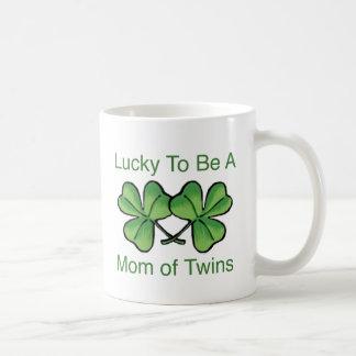 Lucky To Be Twin Mom Classic White Coffee Mug
