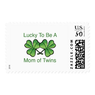 Lucky To Be Twin Mom Postage
