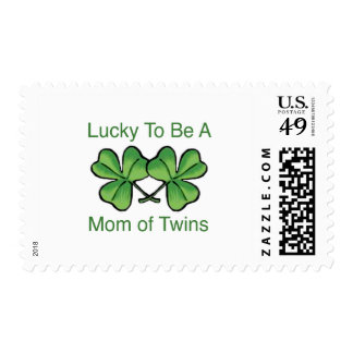 Lucky To Be Twin Mom Stamps