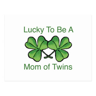 Lucky To Be Twin Mom Postcard