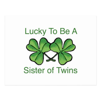 Lucky To Be Twin Sister Postcard