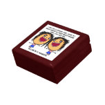 Lucky To Have You Best Friend Cartoon Trinket Box