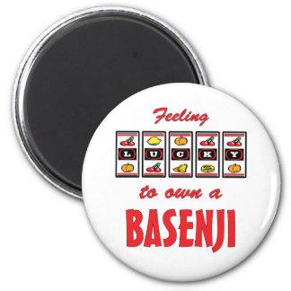 Lucky to Own a Basenji Fun Dog Design Magnet
