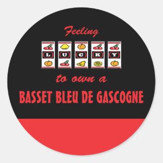 Lucky to Own a Basset Bleu de Gascogne Fun Design Sticker
