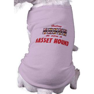 Lucky to Own a Basset Hound Fun Dog Design Tee