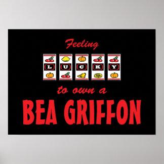 Lucky to Own a Bea Griffon Fun Dog Design Print