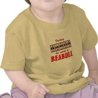 Lucky to Own a Beabull Fun Dog Design Tshirt