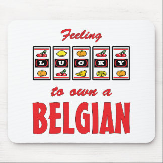 Lucky to Own a Belgian Fun Horse Design Mouse Pad