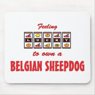 Lucky to Own a Belgian Sheepdog Fun Dog Design Mouse Pad