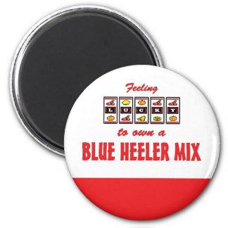 Lucky to Own a Blue Heeler Mix Fun Dog Design Magnet