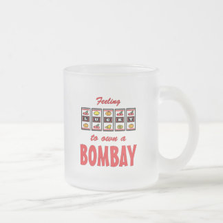 Lucky to Own a Bombay Fun Cat Design Frosted Glass Coffee Mug