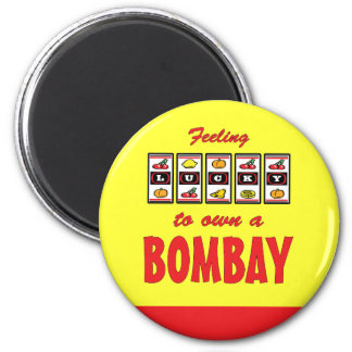 Lucky to Own a Bombay Fun Cat Design Refrigerator Magnet