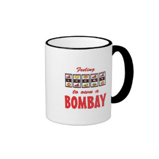 Lucky to Own a Bombay Fun Cat Design Ringer Mug