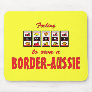 Lucky to Own a Border-Aussie Fun Dog Design Mouse Pad