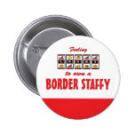 Lucky to Own a Border Staffy Fun Dog Design Buttons