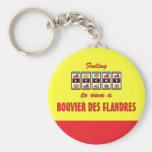 Lucky to Own a Bouvier des Flandres Fun Dog Design Key Chain