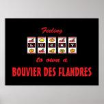 Lucky to Own a Bouvier des Flandres Fun Dog Design Print