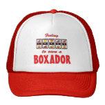 Lucky to Own a Boxador Fun Dog Design Trucker Hats