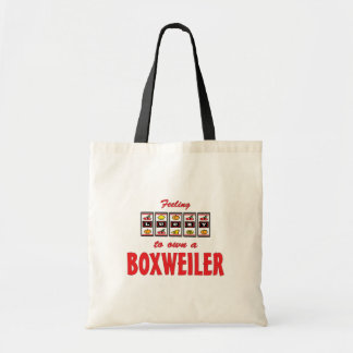 Lucky to Own a Boxweiler Fun Dog Design Budget Tote Bag