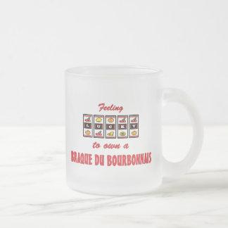 Lucky to Own a Braque du Bourbonnais Fun Design Frosted Glass Coffee Mug