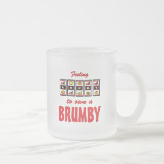 Lucky to Own a Brumby Fun Horse Design Frosted Glass Coffee Mug