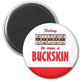 Lucky to Own a Buckskin Fun Horse Design Magnet