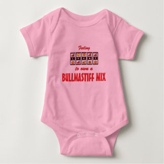 Lucky to Own a Bullmastiff Mix Fun Dog Design Baby Bodysuit
