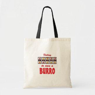 Lucky to Own a Burro Fun Burro Design Canvas Bag