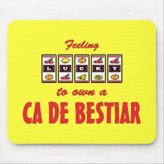 Lucky to Own a Ca de Bestiar Fun Dog Design Mouse Pad