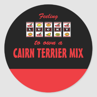 Lucky to Own a Cairn Terrier Mix Fun Dog Design Stickers