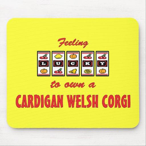 Lucky to Own a Cardigan Welsh Corgi Fun Dog Design Mousepad