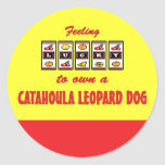 Lucky to Own a Catahoula Leopard Dog Fun Design Stickers