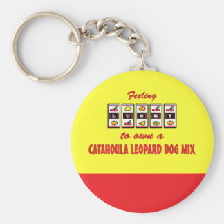 Lucky to Own a Catahoula Leopard Dog Mix Basic Round Button Keychain