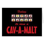 Lucky to Own a Cav-A-Malt Fun Dog Design Greeting Card