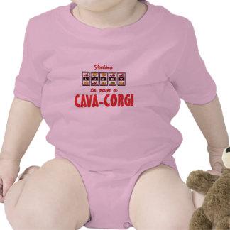 Lucky to Own a Cava-Corgi Fun Dog Design Baby Bodysuits