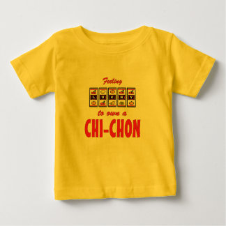 Lucky to Own a Chi-Chon Fun Dog Design Baby T-Shirt