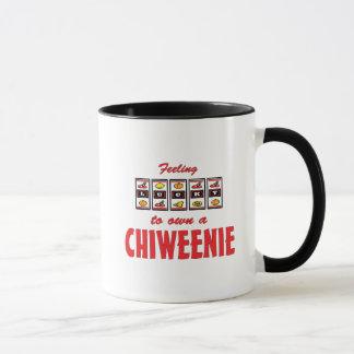 Lucky to Own a Chiweenie Fun Dog Design Mug
