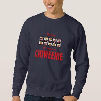 Lucky to Own a Chiweenie Fun Dog Design Sweatshirt