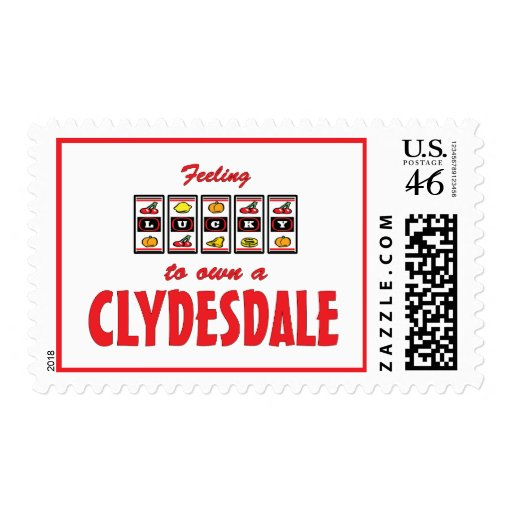 Lucky to Own a Clydesdale Fun Horse Design Postage Stamp